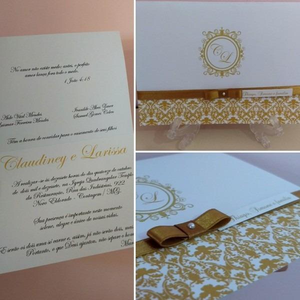 Convite casamento laço chanel