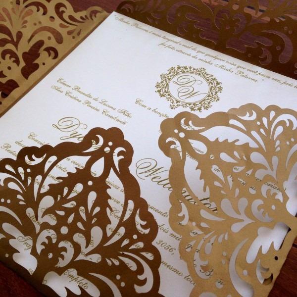 Convite com corte especial