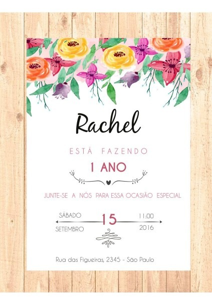 Convite de anivers√°rio 1 aninho 3 » happy birthday world