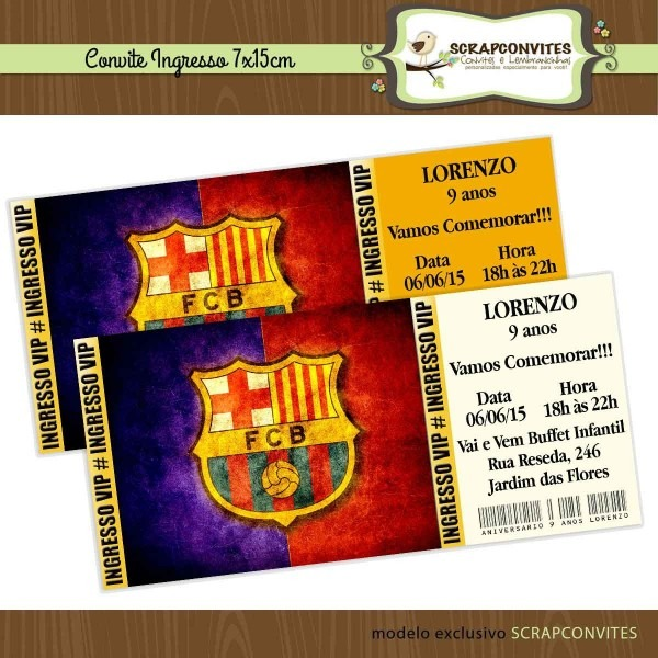 Convite de aniversario do barcelona para imprimir 7 » happy