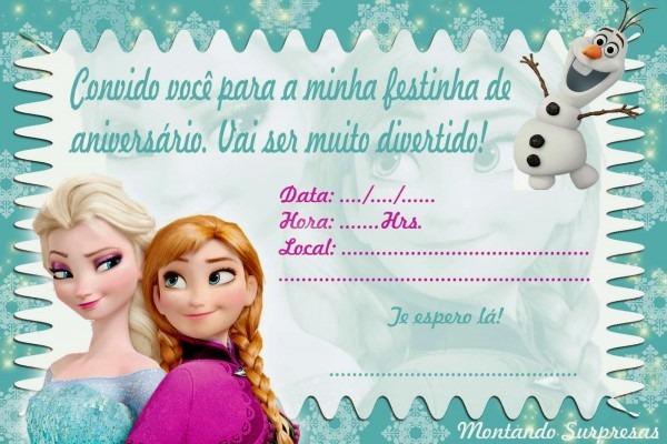 Convite de aniversario infantil frozen 1 » happy birthday world