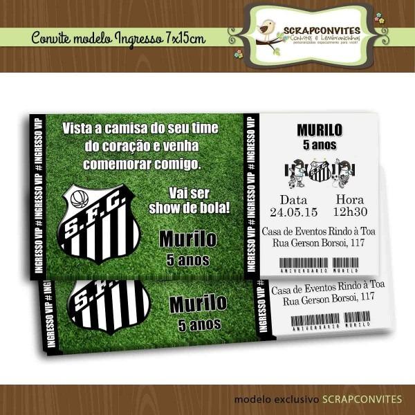 Convite de aniversario ingresso de futebol 6 » happy birthday world
