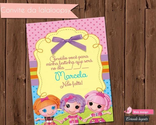 Convite de aniversário lalaloopsy no elo7