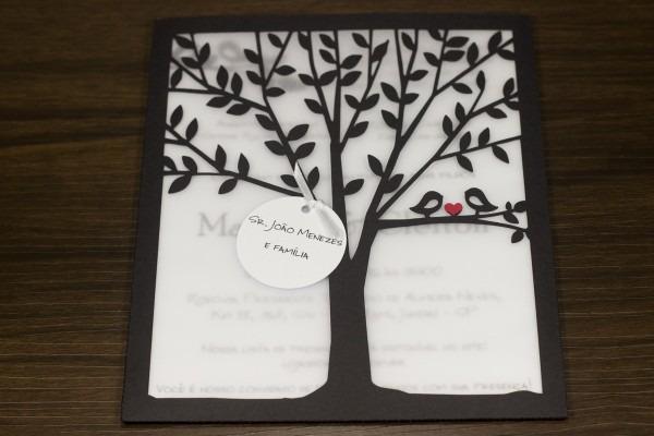 Convite de casamento Árvore
