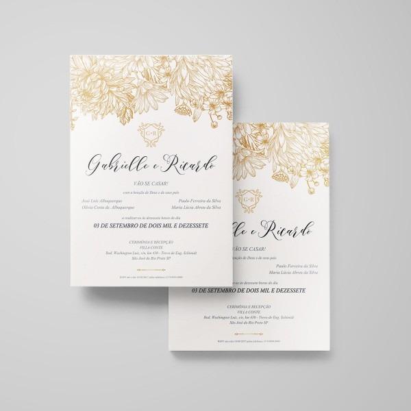 Convite de casamento para imprimir gabrielle no elo7