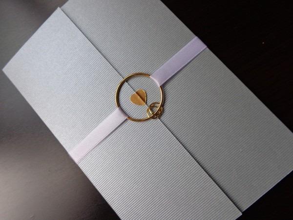 Convite de casamento prateado no elo7
