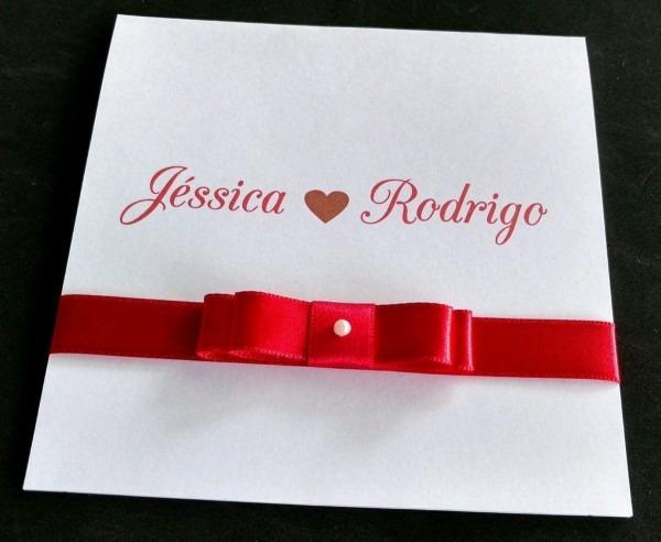 Convite de casamento pequeno no elo7