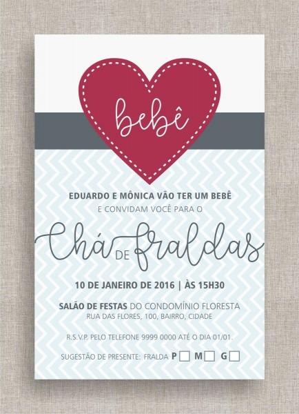Convite digital chá de fraldas 07 no elo7