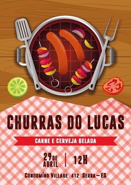 Convite digital churrasco