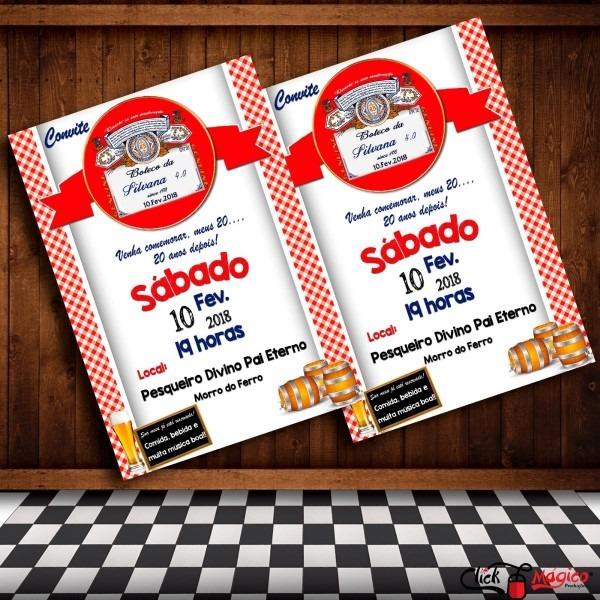 Convite digital festa boteco e chá bar budweiser