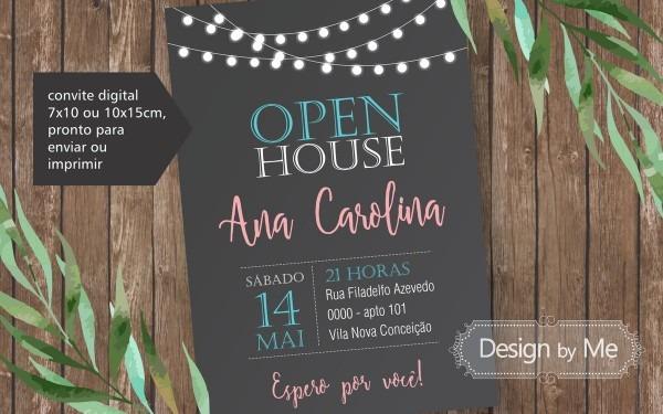 Convite digital open house