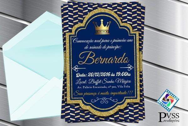 Convite digital realeza reinado príncipe no elo7