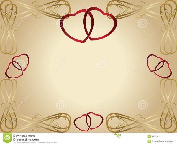 Convite do cartão do aniversário de casamento ilustração do vetor