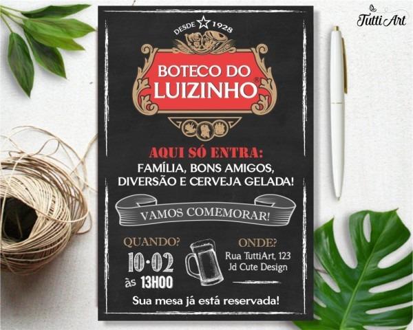 Convite festa boteco