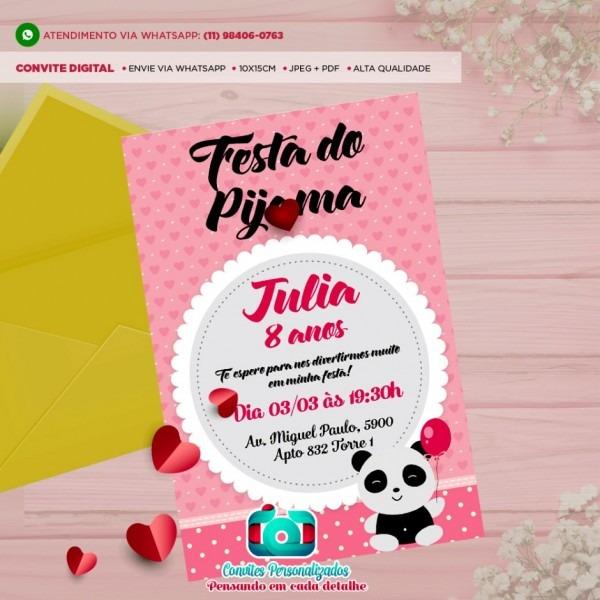 Convite festa de anivers rio grande do pijama agenciadfdesign com
