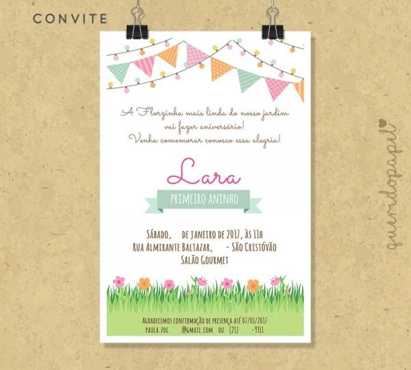 Convite festa piquenique