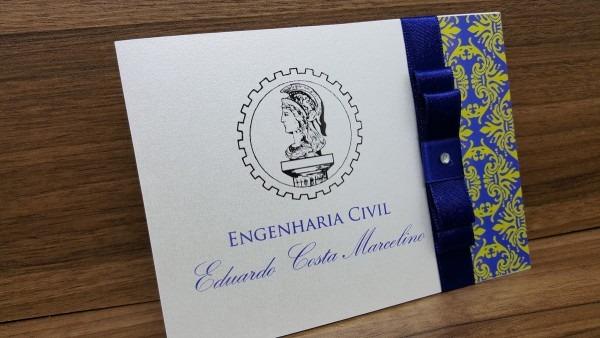 Convite formatura engenharia civil no elo7