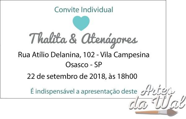 Convite individual casamento no elo7
