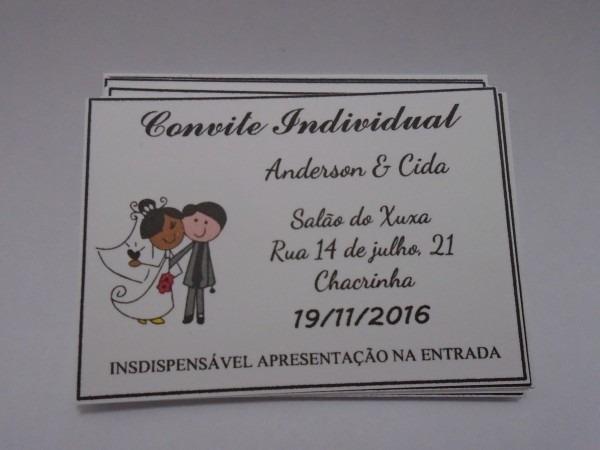 Convite individual noivinhos no elo7