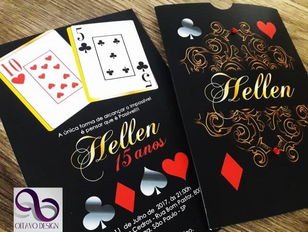 Convite las vegas ( casino ) no elo7