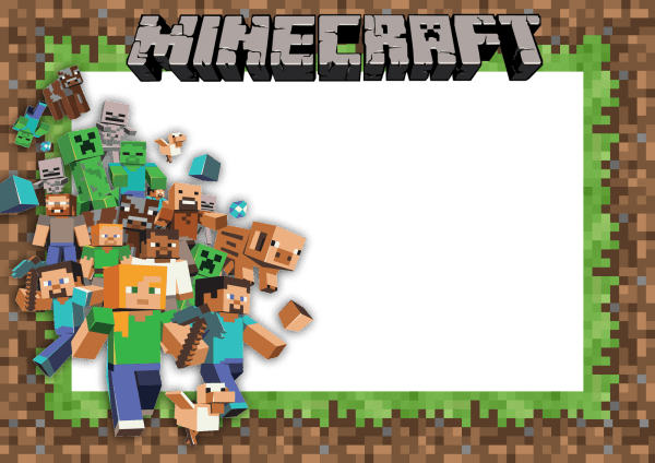Convite minecraft png 1 » png image