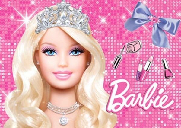 Convite p  aniversário barbie (08 unidades)