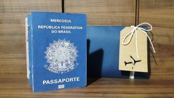 Convite passaporte aviador no elo7