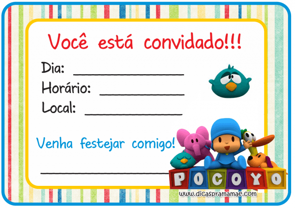 Convite pocoyo png » png image
