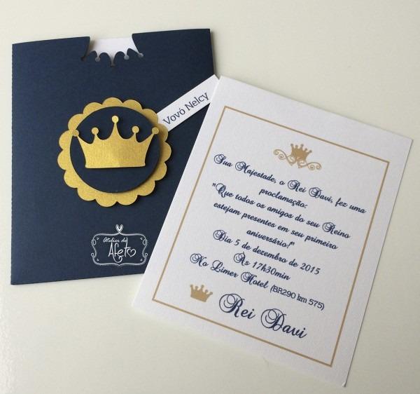 Convite realeza (menino) no elo7