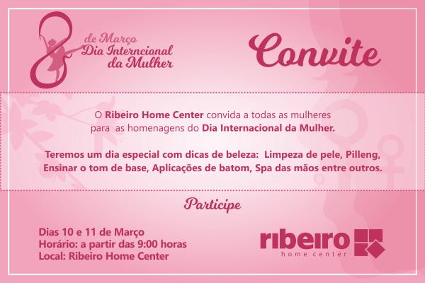 Convite para o dia internacional da mulher
