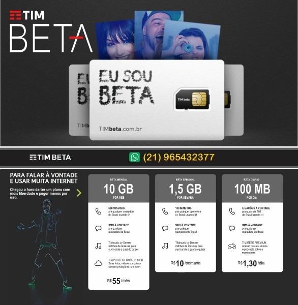Convite tim beta lab face 10gb 600m qlqr operadora +deezer