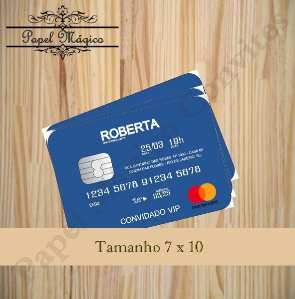 Convite tipo cartão de crédito no elo7