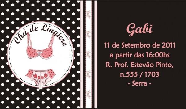 Convite virtual chá de lingerie no elo7