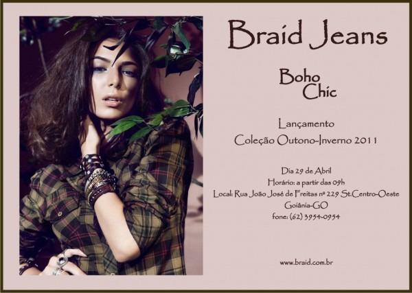 Braid jeans  convite lançamento coleção outono