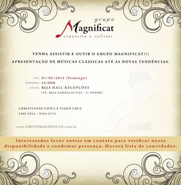 Apresentação grupo magnificat