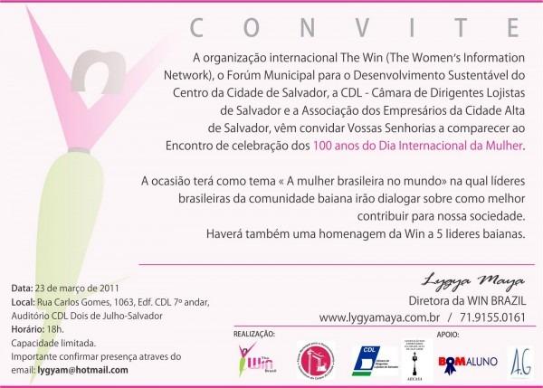 Mj  convite evento dia internacional da mulher