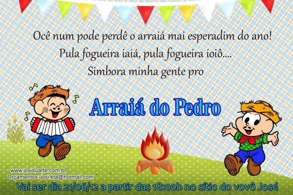 Ateliê josi duarte  convite festa junina