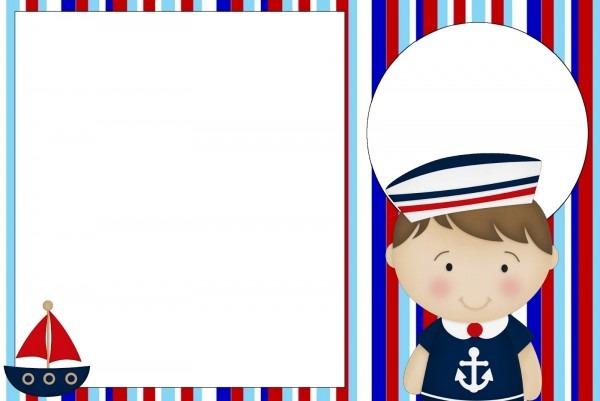 Convites do tema marinheiro para imprimir