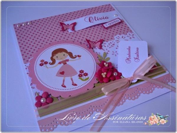 Livro de assinaturas por eliana brands  convite de aniversário de