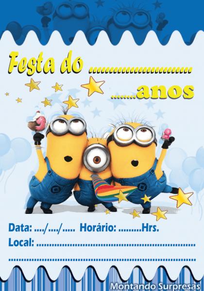 Convites de aniversário minions » happy birthday world