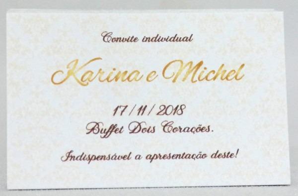 Convites individuais para casamento no elo7