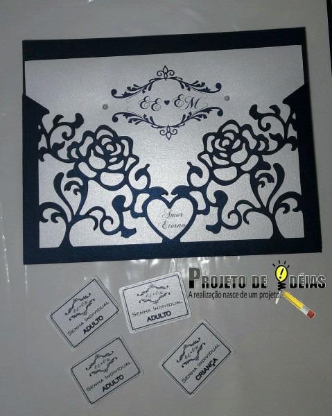 Convites personalizados casamento no elo7
