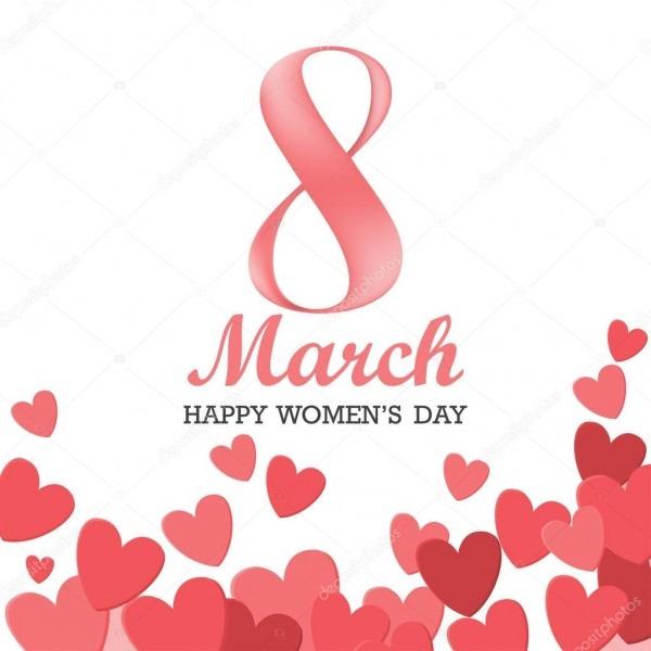 Fundo de dia internacional da mulher — vetor de stock