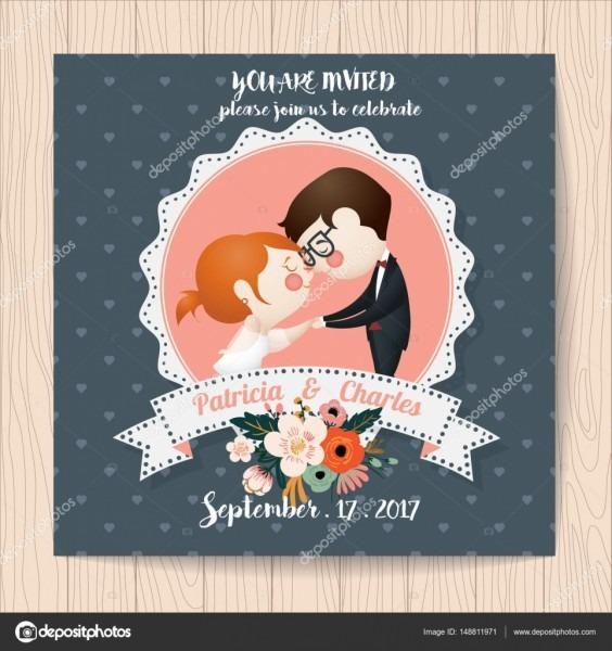 Cartão de convite de casamento com flor modelos e características