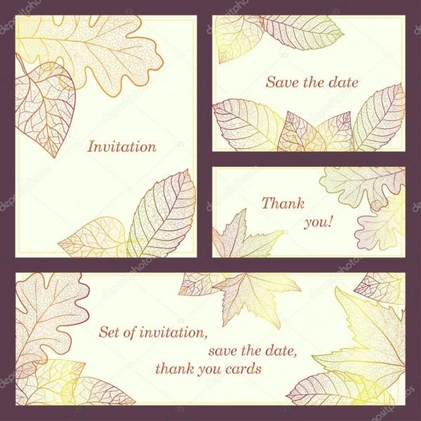 Convite, cartão de agradecimento, salvar as cartas de data com