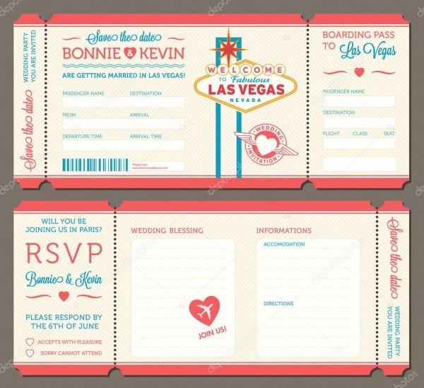 Las vegas wedding invitation — stock vector © pingebat  86532288
