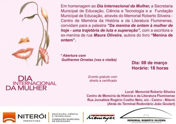Convite  dia internacional da mulher