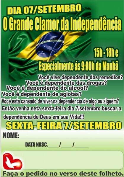 Convite  7 de setembro