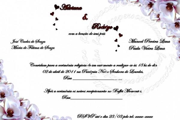 Elegante impress o de convites casamento fa a voc personalizados