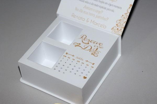 Caixa convite padrinhos de casamento uma maneira diferente